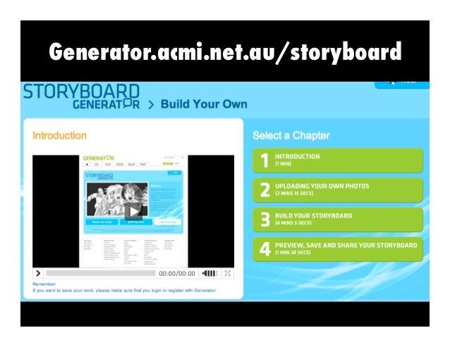 Generator acmi net au/storyboard