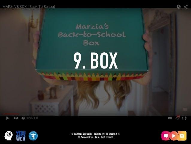 9. BOX Social Media Strategies - Bologna, 14 e 15 Ottobre 2015 © YouMediaWeb - Alcuni diritti riservati