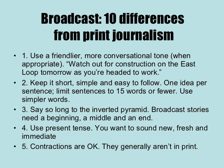 Print vs Broadcast Journalism: Understanding The Differences