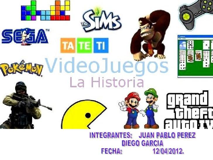 ¿Qué son ?Los videojuegos son programas de computación de altadefinición, que se conectan a cualquier televisor e integran...