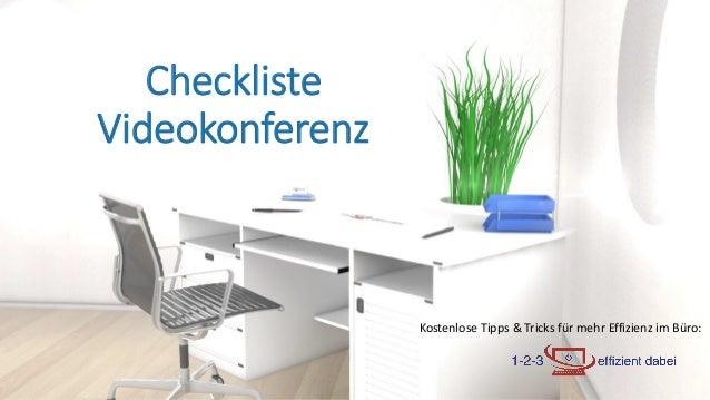 Kostenlose Tipps & Tricks für mehr Effizienz im Büro: Checkliste Videokonferenz