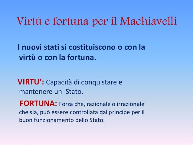 Machiavelli's Conception of Virtu and Fortuna