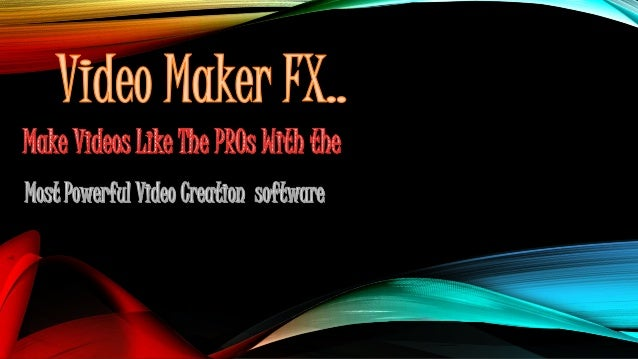 Video maker fx is a professional tool to make 3d animation, animated video for sale page, animated video presentation and ...