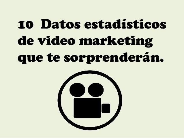 10 Datos estadísticos de video marketing que te sorprenderán.