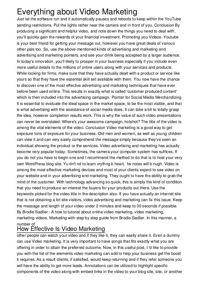 Everything about Video MarketingJust let the software run and it automatically pauses and reboots to keep within the YouTu...