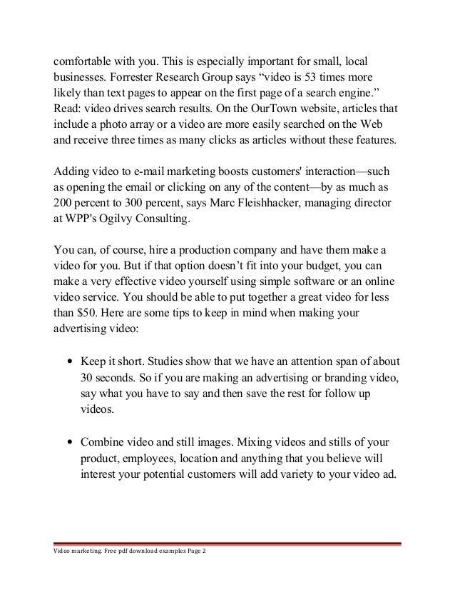 Video Marketing Business