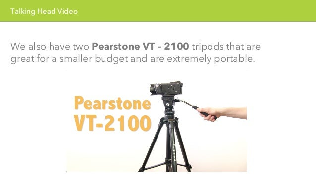 Talking Head Video  For a teleprompter, we use an iPad with a program  called Visio Prompt. Visio Prompt is a great progra...