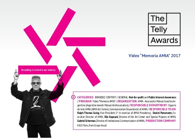 Video Memoria AMIA - The Telly Awards