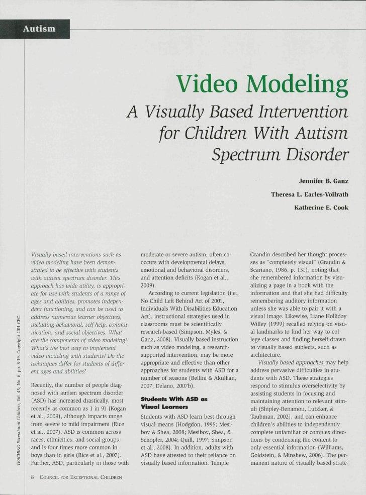Autism                                                           Video Modeling                                        A V...