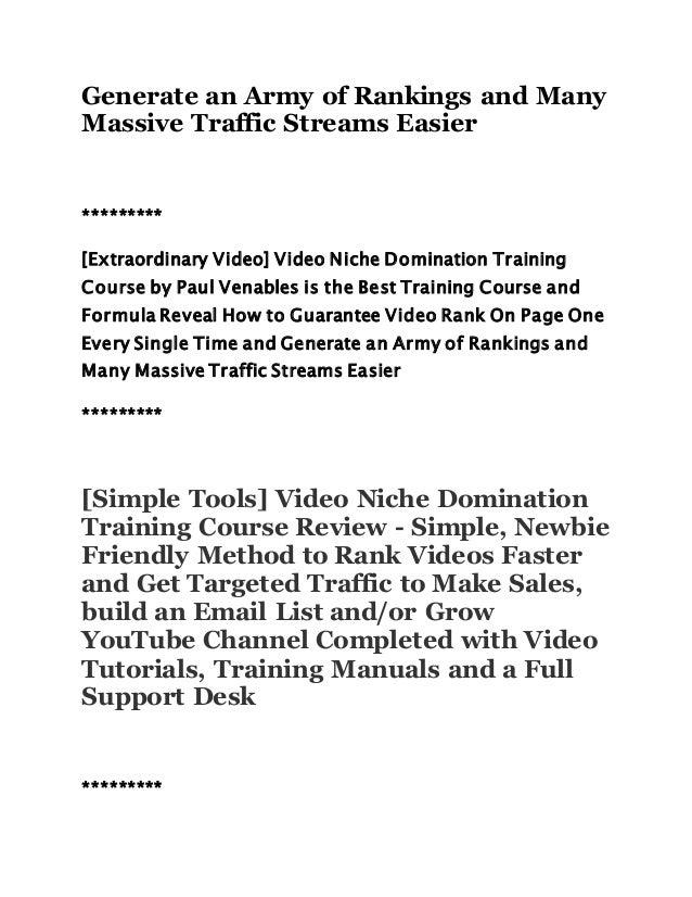 Domination training email