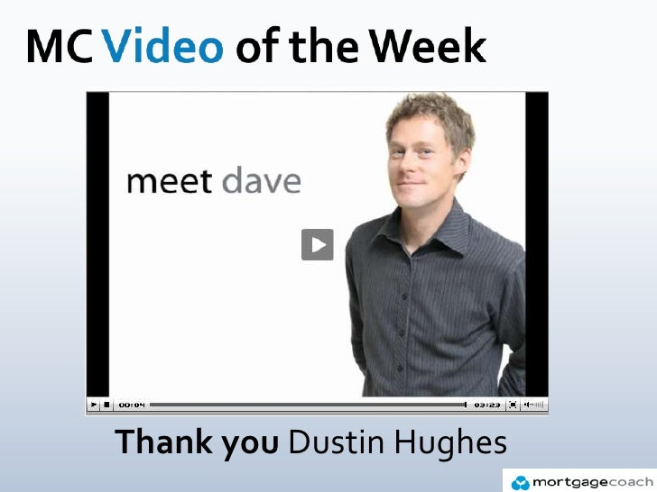 MC Video of the Week<br />Thank you Dustin Hughes<br />
