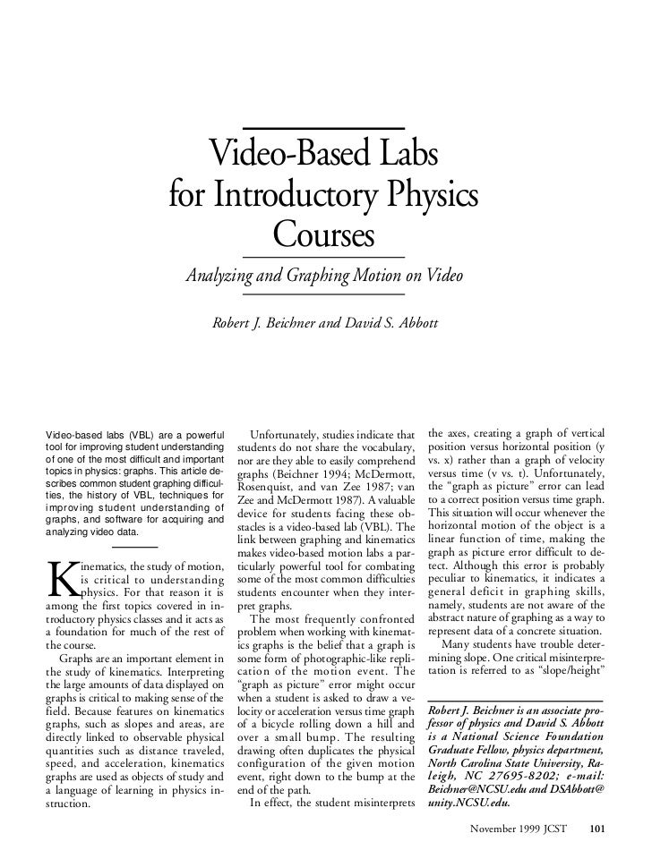 Video-Based Labs                             for Introductory Physics                                      Courses        ...