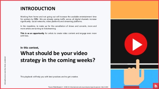 In this context, What should be your video strategy in the coming weeks? Working from home and not going out will increase...
