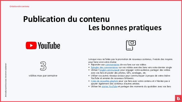 Publication du contenu Création de contenuBelieve@propriétéexclusive.Strictementconfidentiel Les bonnes pratiques vidéos m...