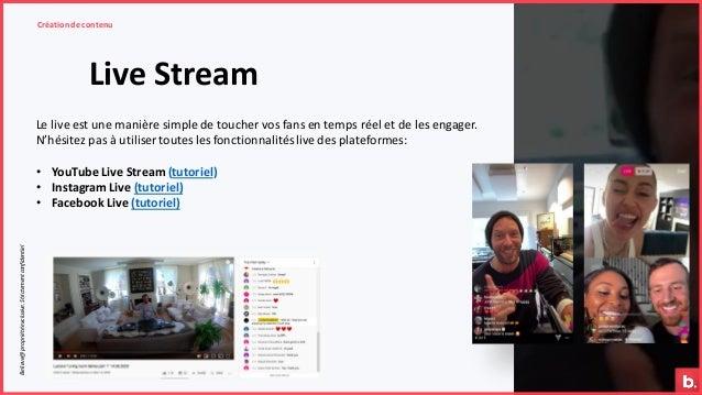 Live Stream Création de contenuBelieve@propriétéexclusive.Strictementconfidentiel Le live est une manière simple de touche...