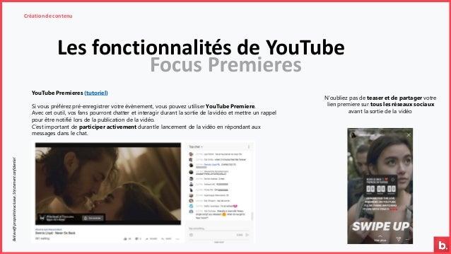 Les fonctionnalités de YouTube Création de contenuBelieve@propriétéexclusive.Strictementconfidentiel YouTube Premieres (tu...