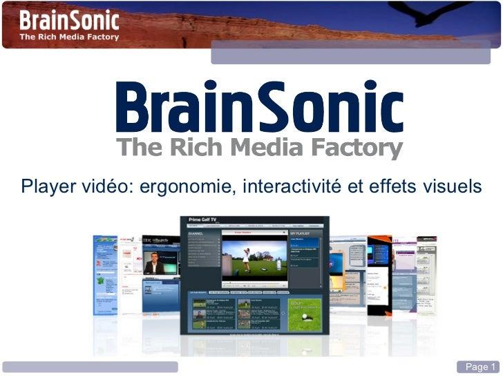 Player vidéo: ergonomie, interactivité et effets visuels