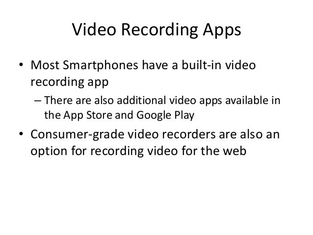 Video Production Basics Slide 2