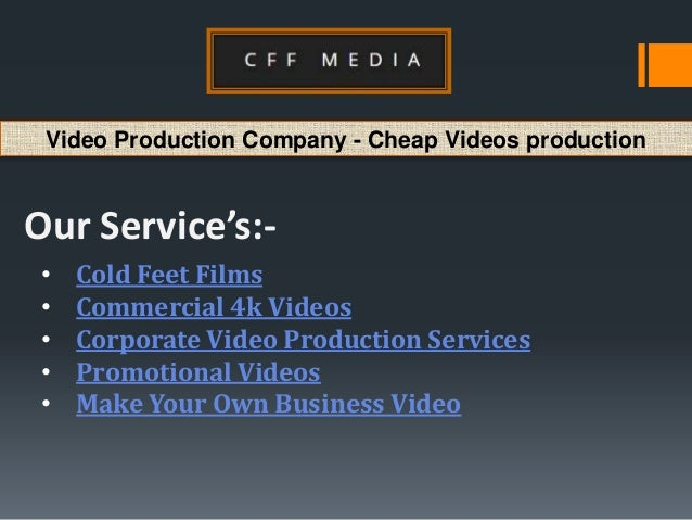 Video production company cheap videos production