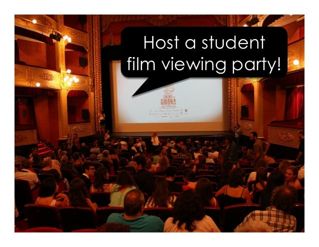 Host a student film viewing party!