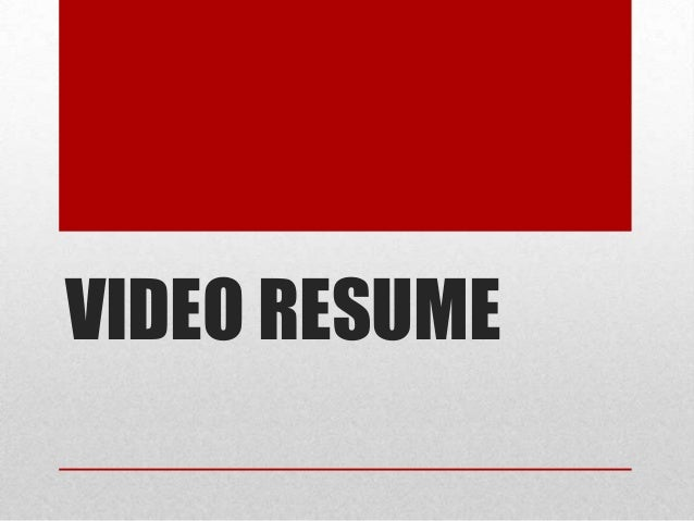 SlideShare  Video Resume