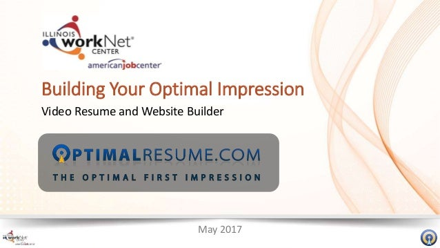 may 2017 building your optimal impression video resume and website builder - Resume Website Builder