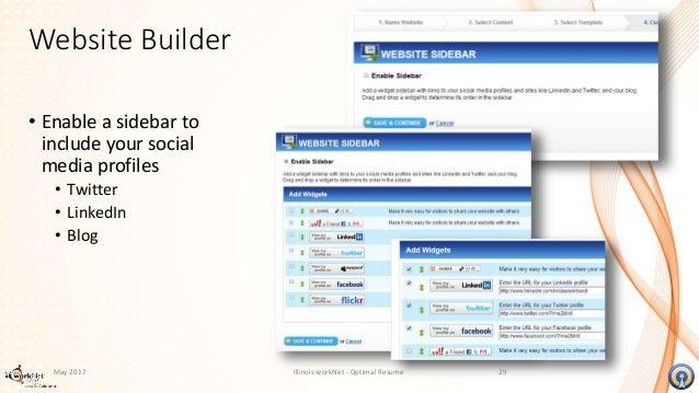 Resume website builder