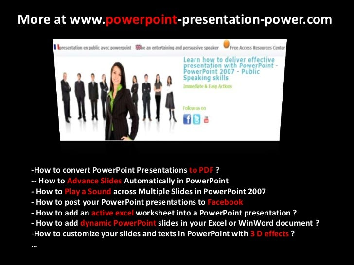 how to post your powerpoint presentations to facebook