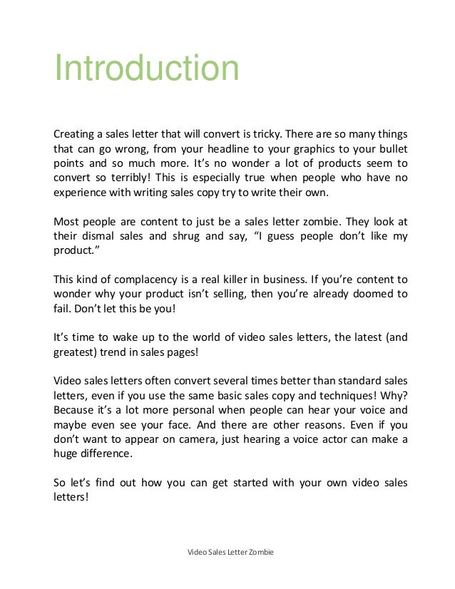 Video Salesletter Guide How To Make Video Sales Letter