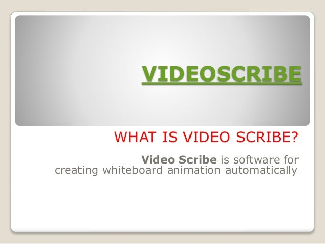 How to use Videoscribe