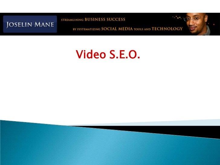 Video S.E.O.<br />