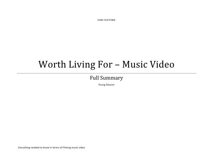 FAM CULTURE                 Worth Living For – Music Video                                                            Full...