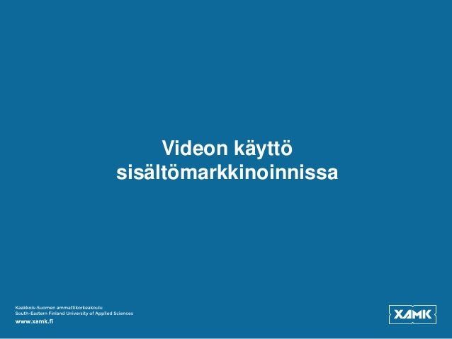 Videon käyttö sisältömarkkinoinnissa