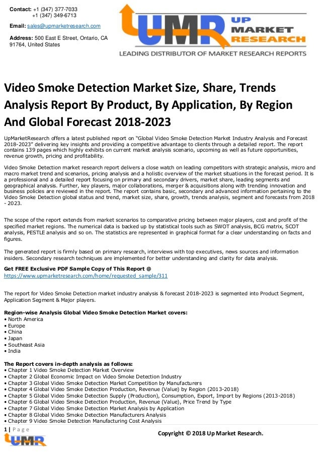 Video smoke detection market report