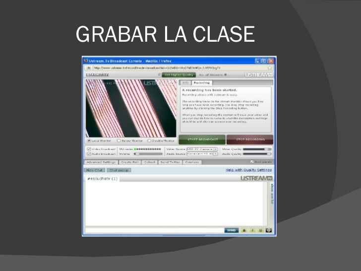 GRABAR LA CLASE
