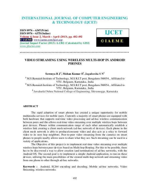 International Journal of Computer Engineering and Technology (IJCET), ISSN 0976-6367(Print), ISSN 0976 – 6375(Online) Volu...