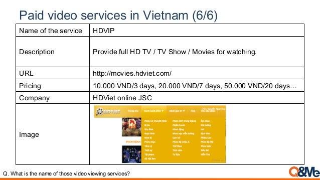 Vietnamese online video watching behaviors