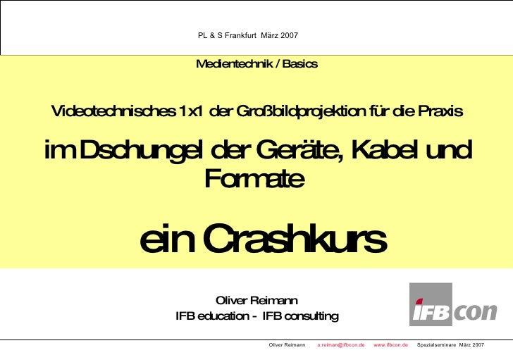 Medientechnik / Basics Videotechnisches 1x1 der Großbildprojektion für die Praxis im Dschungel der Geräte, Kabel und F...