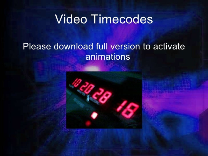 Video Timecode