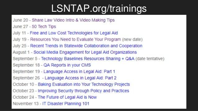 LSNTAP.org/trainings