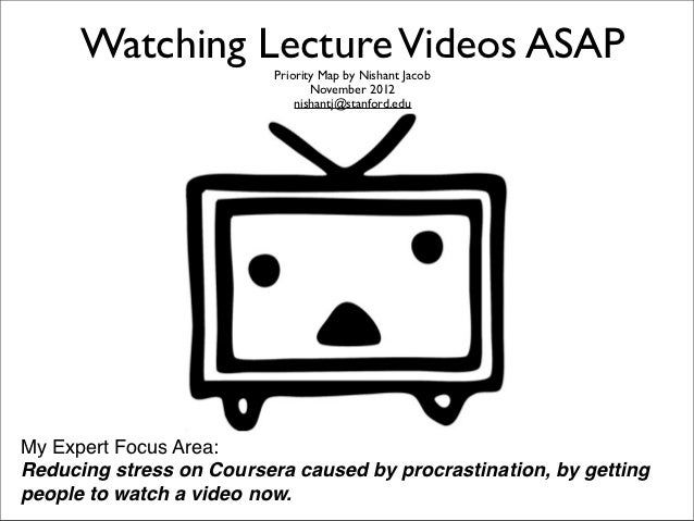 Watching Lecture Videos ASAP                          Priority Map by Nishant Jacob                                 Novemb...