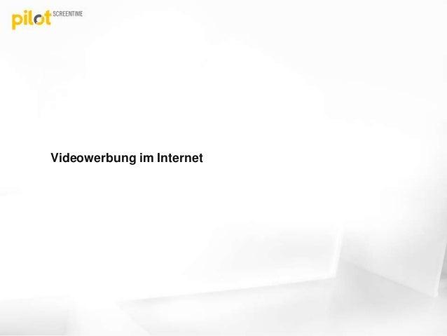 Videowerbung im Internet