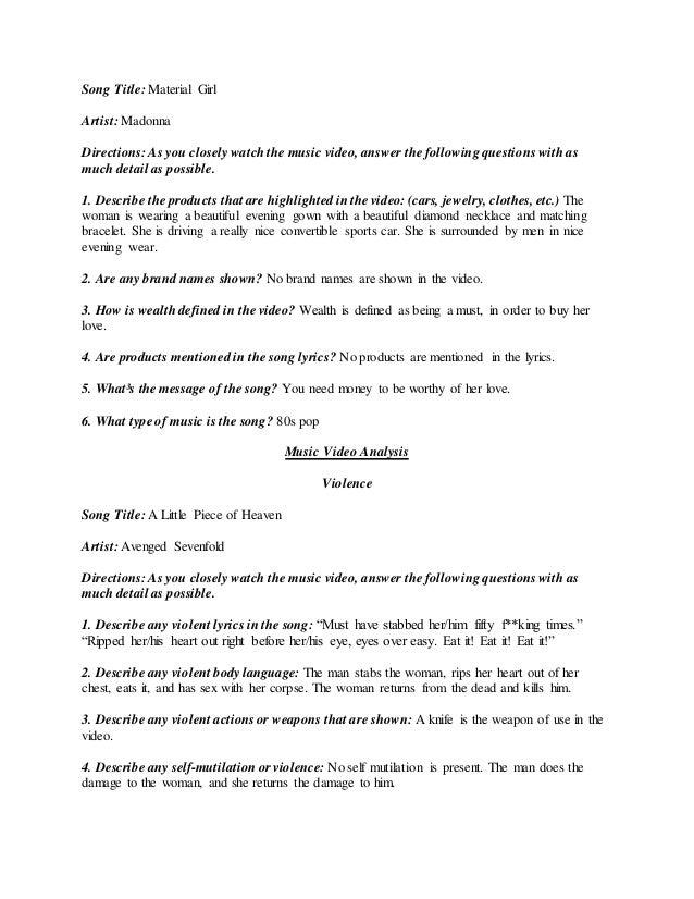 Video Worksheet
