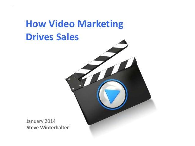 Intro slide  How Video Marketing Drives Sales  January 2014 Steve Winterhalter