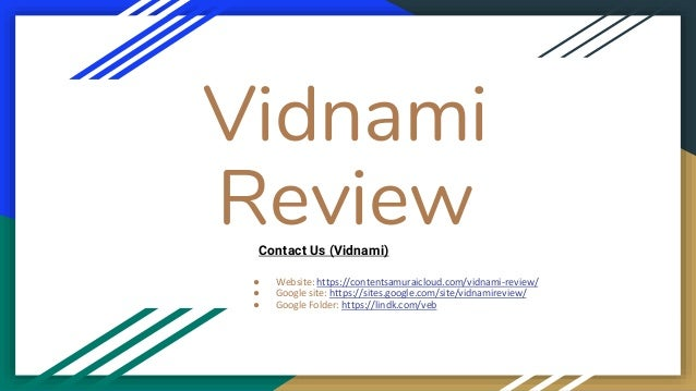 Vidnami Review ● Website: https://contentsamuraicloud.com/vidnami-review/ ● Google site: https://sites.google.com/site/vid...