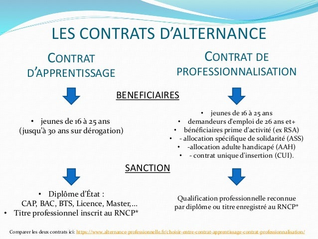 Les Differents Contrats D Alternance