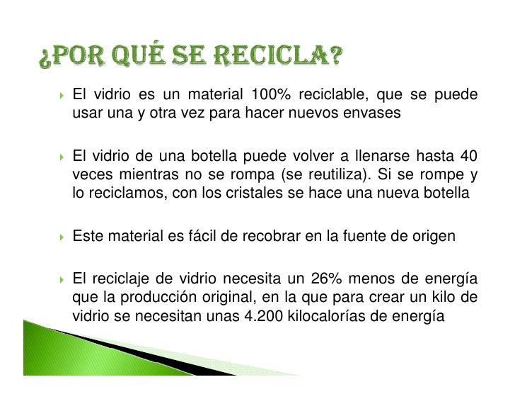 Vidrio reciclaje for Que se puede cocinar