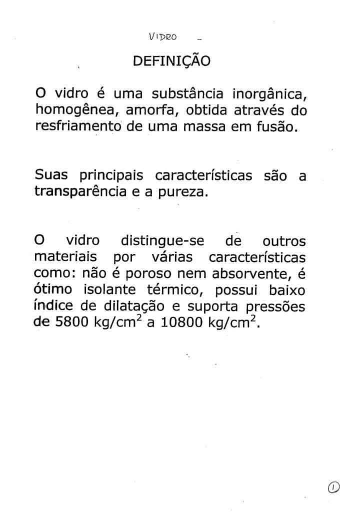 Matec  - Vidro  2 - definição