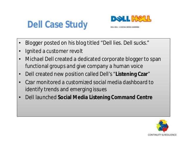 Dell's Supply Chain Management Strategy