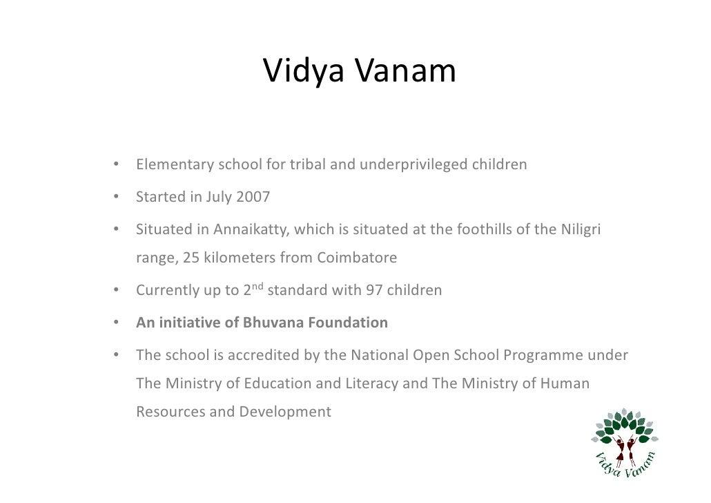 Help Vidya Vanam the School